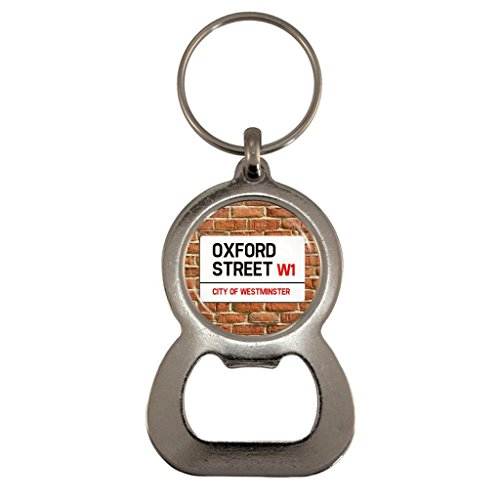 Oxford St Sign Metal Bottle Opener Keyring in Gift - In Stores Street London Oxford
