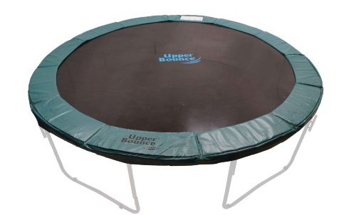 (Upper Bounce Super Trampoline Safety Pad (Spring Cover) Fits for 14-Feet Round 10-Inch Wide Trampoline Frames, Green)