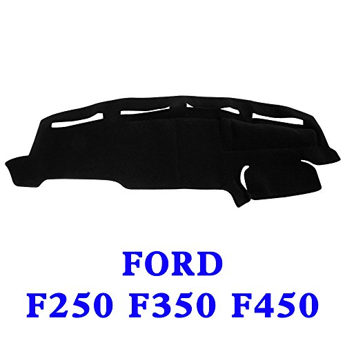(JIAKANUO Dash Cover Fit for Ford F250 F350 F450 1999-2004, Dashboard Mat Sunshield Protector Pad Non-Slip,Extra Thick (Black) MR072)
