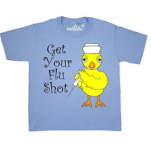T-shirt Youth Shot (inktastic - Nurse Flu Shot Youth T-Shirt Youth X-Large (18-20) Light Blue 2cc87)
