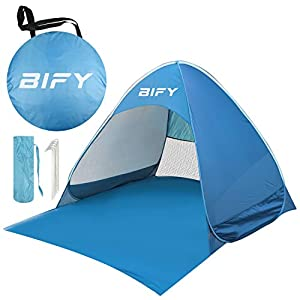 BIFY Pop-up Beach Tent Portable for1-3 Person,Automatic Instant Beach Tent Waterproof Anti-UV Shade Camping Tent for…