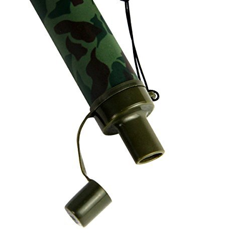 Army Green Camouflage Safe Water Drink Straw 99.99999% Water Filter Purifier Kit Outdoor Camping Hiking Water Purifiers