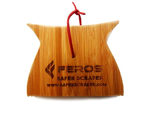 FEROS Safer Scraper Mini - Wood BBQ Wooden Grill Cleaner - Small Version - Cleans top AND BETWEEN barbecue grates. Use to oil & clean barbeque. Sustainable replacement for wire bristle (Pizza Outdoor Led Sign)