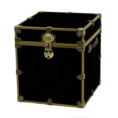 Rhino Cube Sticker Trunk in Antique Brass (Black) (18 Polyester Oz Vinyl Black)