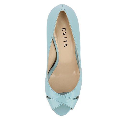 Evita Shoes Elisa - Zapatos de vestir de Piel para mujer turquesa