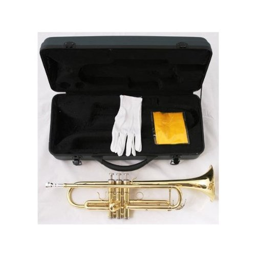 Crescent TR-LQ Lacquer Plated Trumpet with Hard Case by Crescent