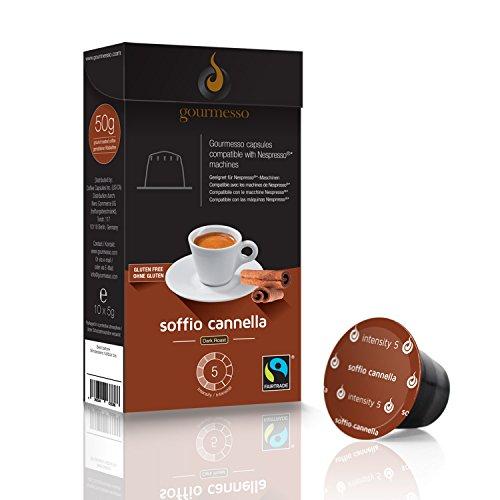 Gourmesso Soffio Canella - 10 Nespresso kompatible Kaffeekapseln - Flavor Zimt