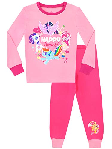 (My Little Pony Girls' Rainbow Dash Twilight Sparkle Rarity Pajamas Size 5)