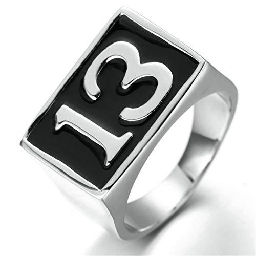 Aooaz Jewelry Signet Rings Men Rechteck Stainless Steel Ring US Size 13 (Rechteck-symbol)