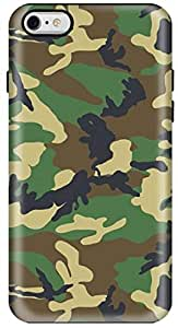 Stylizedd Apple iPhone 6 Plus Premium Dual Layer Tough case cover Gloss Finish - Jungle Camo I6P-T-78