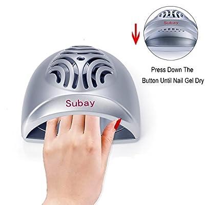 Portable Mini Nail Dryer Fan for Personal or Nail Beauty Salon(Silver)