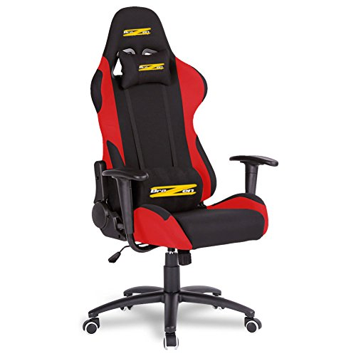 BraZen Shadow Pro Racing PC Gaming Chair - Black/Red 17850