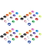 Healifty 100PCS Metal Grommets Eyelets Colored Antique Eyelet Repair Replacement for DIY Craft 6MM Canvas Hanging Tag Clothes Leather Shoes
