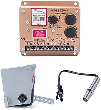 CUHAWUDBA Actuador ADC120 Generador Gobernador 1 Conjunto ADC120 Actuador 3034572 Sensor de RecoleccióN ESD5500E Controlador de Velocidad-24V