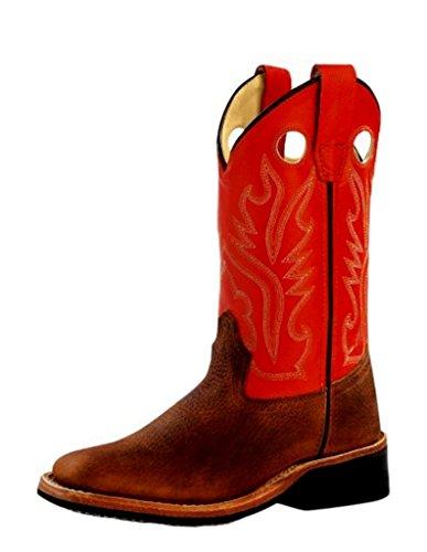 r Corona Calf Cowboy Boot Square Toe Copper 1 D(M) US ()