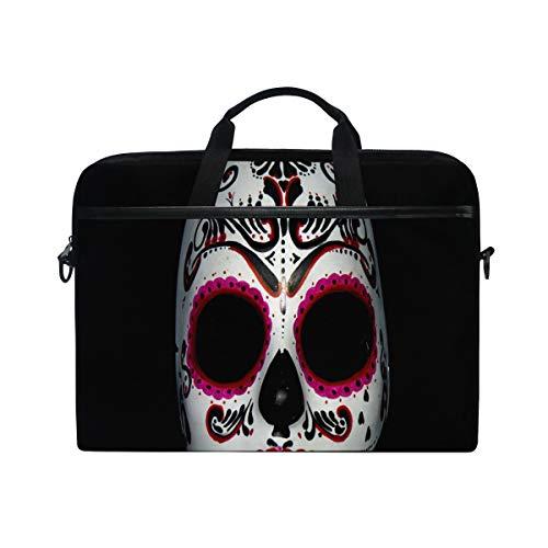Retro Skull 14 15inch Laptop Case Laptop Shoulder Bag Notebook Sleeve Handbag Computer Tablet Briefcase Carrying Case Cover with Shoulder Strap Handle for Men Women Travel/Business/School