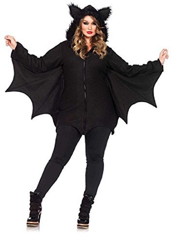 Cozy Bat Dress Adult Womens Costumes (Women's Bat Costume Halloween Warm Cozy (XX-Large))