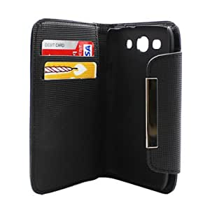 [Buy World] for SAM Galaxy S III I9300 Deluxe Dual-use Flip Pu Leather, Black