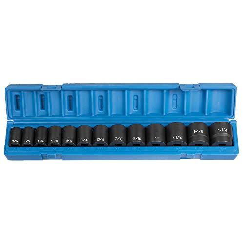 Grey Pneumatic Corp 1312 1/2'' Drive Standard Length Fractional Set - 13 Piece ()