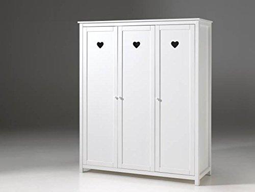 Vipack Kleiderschrank Amori, 3-türig, weiß