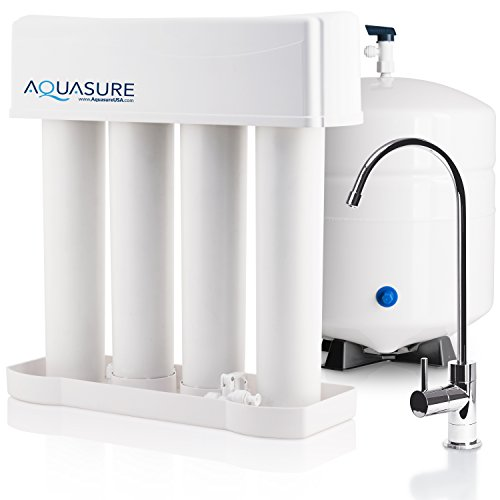 Pro Filtration (Aquasure Premier PRO Reverse Osmosis Drinking Water Filtration System with Quick Twist Lock - 100 GPD)