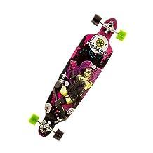 Punisher Skateboards Zombie 40 Double Kick Tail Drop Down Complete Longboard Skateboard by Bike USA
