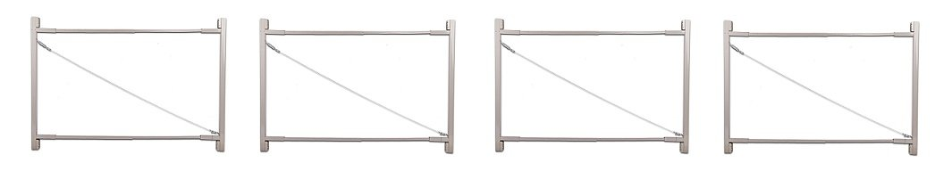 Adjust-A-Gate Steel Frame Gate Building Kit (36''-72'' wide openings up to 6' high fence) (4-Pack)