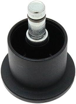 Parti fondamentali confezione da 5/rotelle Tower Glides con stelo ruote sedia da ufficio sedia da ufficio fissa/ /Kit ricambi per sedie 10/mm x 22/mm stelo 36mm Tower Height ruota di ricambio