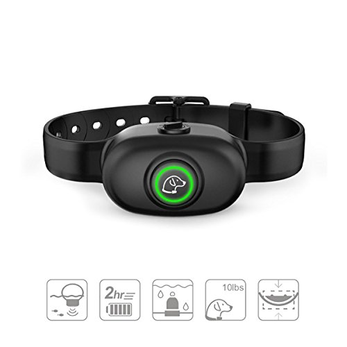 Anti Bark Collar – Safe No Bark Collar, Rechargeable, Waterproof with Intelligent Vibration, Beep and Static Shock Training Mode for Small Medium Large Dog