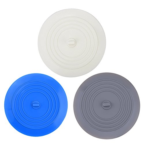 V Top Tub Stopper 2 Pack 6 Inches Large Silicone Bathtub