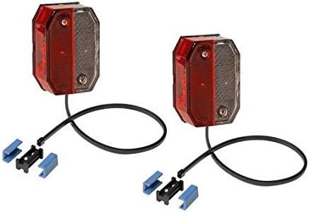 Fkanhängerteile 2 Stück Aspöck Flexipoint 1 Rot Weiss Mit Dc Flachkabel Dc Verbinder Leuchtmittel 31 6509 047 Auto