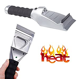 Heated Ice Scraper Car Auto – Window Electric Ice Scraper With Squeegee for Truck SUV – Powered By 12 V Cigarette, With Light by Perfect Life Ideas