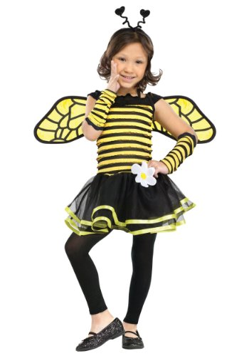 Fun World Costumes Baby Girl's Busy Bee Toddler Costume, Black/Yellow, -