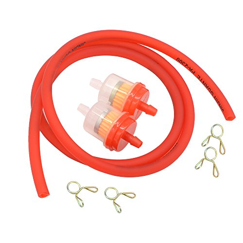 Gas Hose Line Fuel Filter Spring Clips for 110cc 50cc 125cc 150cc Kazuma Meerkat Redcat Falcon Taotao ATV Dirt Bike Scooter Quad Hammerhead twister 150 GTS Buggy Go Kart Parts - Ez Line Clip System