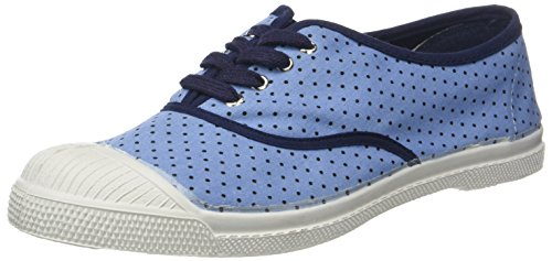 Bensimon Tennis Lacet Poisdenim, Baskets Femme Multicolore (Pois Marine)