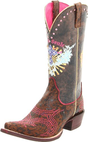Ariat Women's Pink and Sassy Soule Boot - Wild Brown - 7 ...