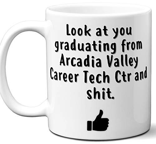 Arcadia Valley Career Tech Ctr Graduation Gift. Cocoa, Coffee Mug Cup. Student High School Grad Idea Teen Graduates Boys Girls Him Her Class. Funny Congratulations. 11 oz.