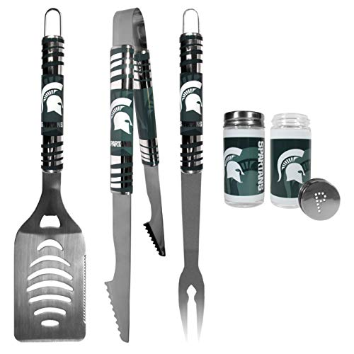 - NCAA Michigan State Spartans 3 pc Tailgater BBQ Set & Salt & Pepper Shaker Set