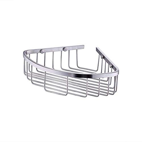 (Kes Bathroom Triangular Tub and Shower Caddy 2-Tier Wall Mount SUS304 Stainless Steel, Brushed Finish, A2123B-2)