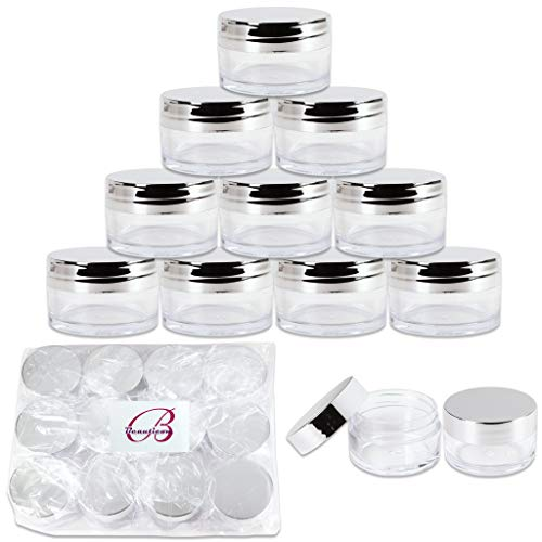 Beauticom 20g/20ml USA Acrylic Round Clear Jars