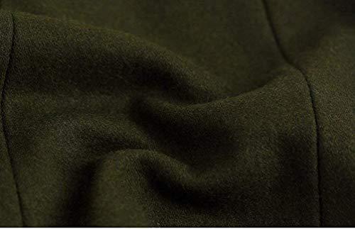 Autunno Cappotti Cerniera Casual Armee Bavero Con Giacca Moda Anteriori Misti Colori Outwear Chic Lunga Outerwear Manica Donna Grün Ragazza Tasche 44q5wfR