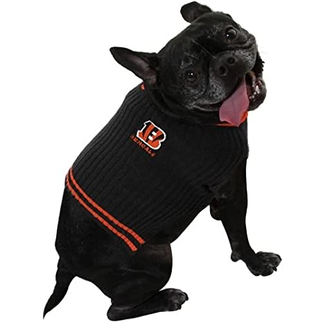 6db5c9dc CINCINNATI BENGALS V NECK DOG PET EMBROIDERED SWEATER - XS SML - LICENSED  NFL (XS)