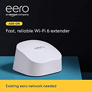 All-new Amazon eero 6 dual-band mesh Wi-Fi 6 extender – expands existing eero network