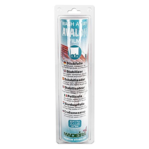 Madeira Embroidery Stabilizers - Madeira Stabilizer Wash Away Avalon Film 11yd