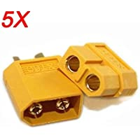 Frontier 5X XT60 Male Female Bullet Connectors Plugs For RC Battery
