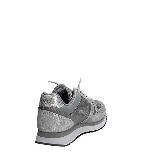 sneakers W Grigio Tokyo lacci PELLE SILVER 2018 GRAY LOTTO METAL T0887 Wedge inverno qEgwnt