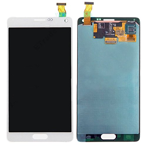 Display Touch Screen Assembly with Stylus Pen Sensor for Samsung Galaxy Note 4 N910 N910A N910H N910P N910R4 N910T N910V N910F N910W8,Phone Repair Replacement.(White)