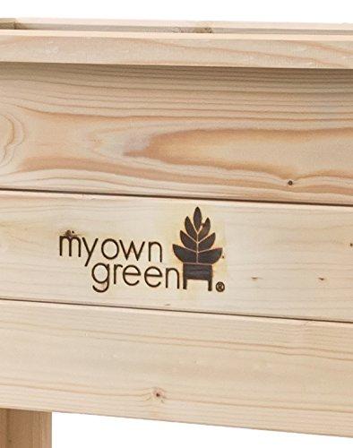 Myowngreen Hochbeet Aus Fichtenholz Naturbelassen Krauterhochbeet