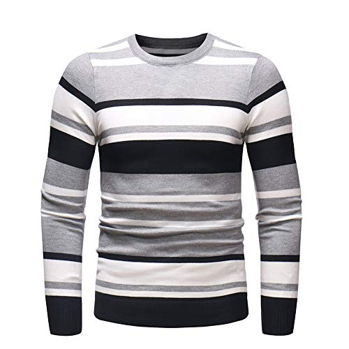 Shirts For Men Charberry Autumn Winter Sweater Pullover Slim Jumper Knitwear Long Sleeve Blouse (Dog Powder Jacket)