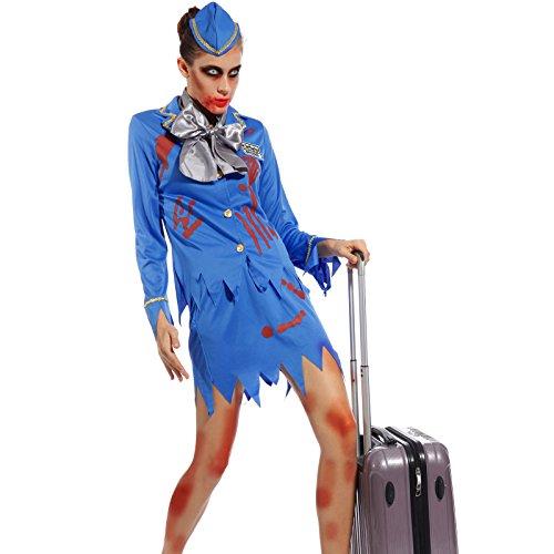 Adult Ladies Horror Zombie Halloween Costume Hen Night Party Fancy Dress Outfit - Vampire Cheerleaders Costumes